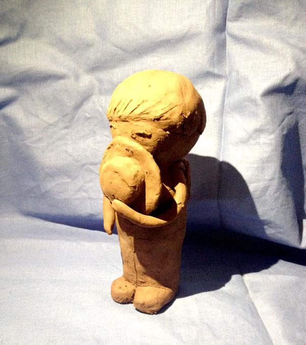 小学生陶艺,雕塑作品展中